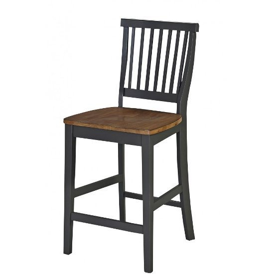 """Home Styles Americana Counter Stool in Grey, 18"""" W x 22"""" D x 41"""" H"""