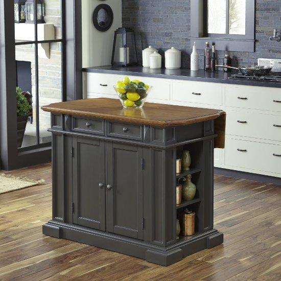 fascinating furniture style kitchen island | 48'' Wide Americana Kitchen Island Set in Grey by Home ...