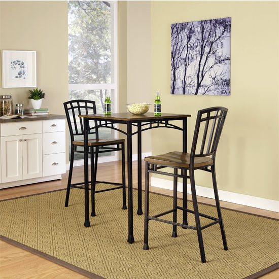 Home Styles Modern Craftsman 3-Piece Bistro Set, Oak/Brown