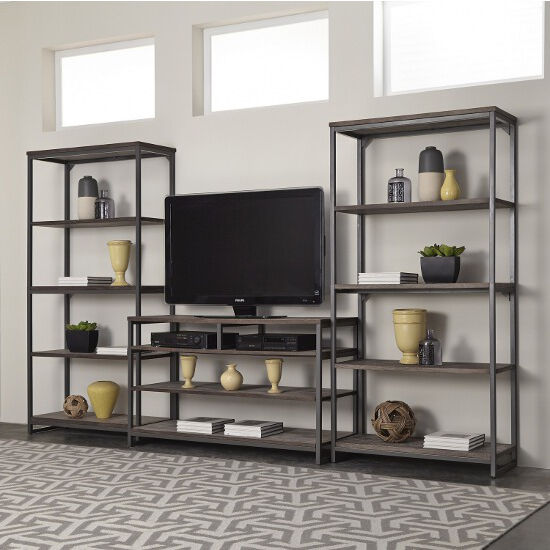 TV Stand with Media Shelves