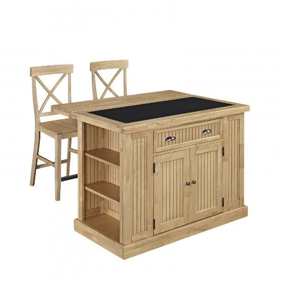 48 39 39 Wide Nantucket Natural Kitchen Island In Maple With
