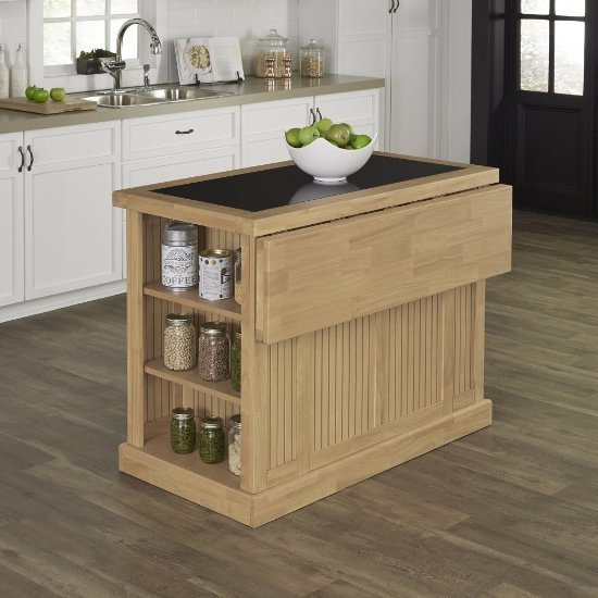 48'' Wide Nantucket Natural Kitchen Island In Maple With