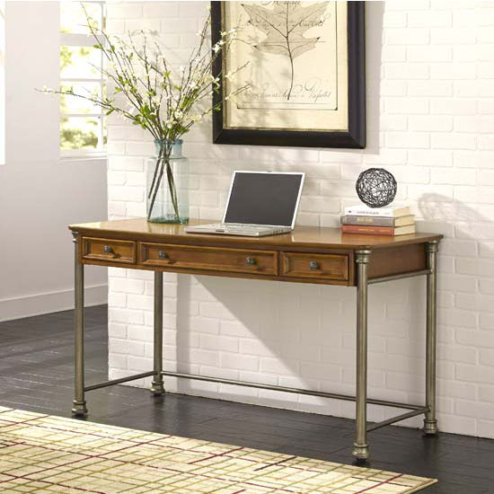 Home Styles The Orleans Executive Desk, 56'' W x 24'' D x 30'' H, Vintage Caramel Finish