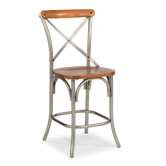 "Home Styles Orleans Counter Stool, Caramel, 18-1/2"" W x 22"" D x 44"" H"