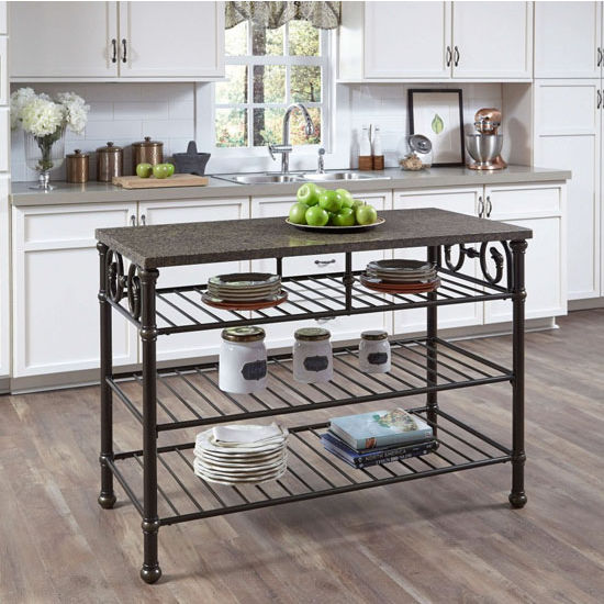 Richmond Hill Kitchen Island With Choice Of Brown Multi
