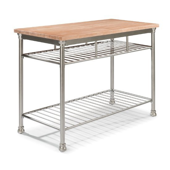 Home Styles Butcher Block Top Kitchen Island : French Quarter Butcher Block Top Kitchen Island in Aged White Washed Finish with Stool Option ...