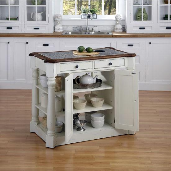 home styles americana granite kitchen island in oak white or oak black