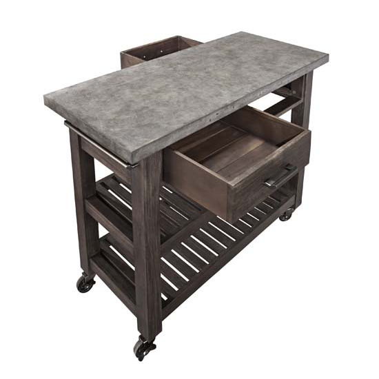 21 Beautiful Kitchen Islands And Mobile Island Benches: Home Styles Concrete Chic Kitchen Cart In Brown/Gray
