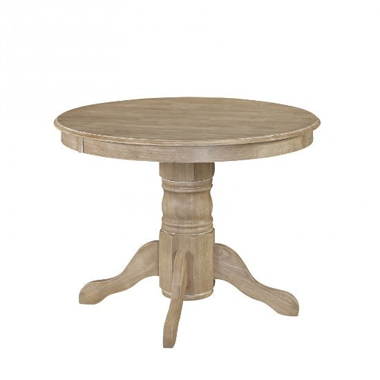 """Home Styles Classic Pedestal Dining Table in White Wash, 42"""" Diameter x 30-1/4"""" H"""