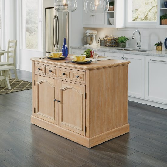 8 Kitchen Island: Cambridge Kitchen Island With Quartz Inset Top & Stool