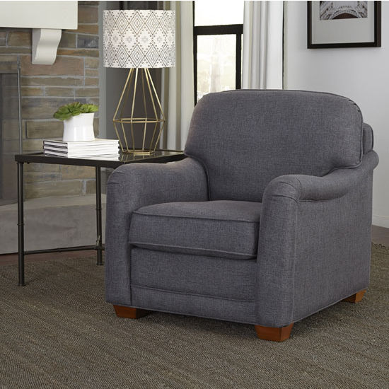 Magean Stationary Upholstered Chair with Charles of London Arm Style