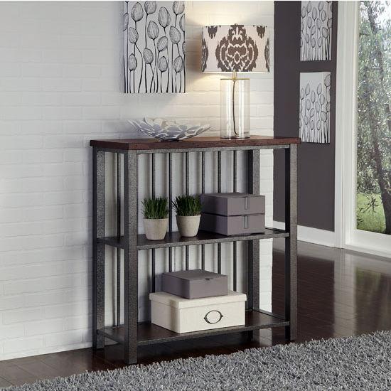 Home Styles Cabin Creek 3-Tier Multi-Function Shelves, 38'' W x 16'' D x 40-1/4'' H, Multi-Step Chestnut