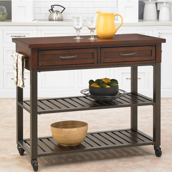 Home Styles Cabin Creek Kitchen Cart, Chestnut
