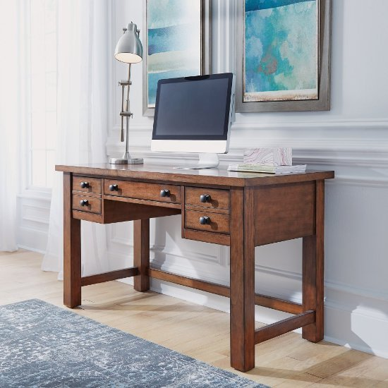 "Home Styles Tahoe Executive Writing Desk in Aged Maple, 54"" W x 23-3/4"" D x 30"" H"