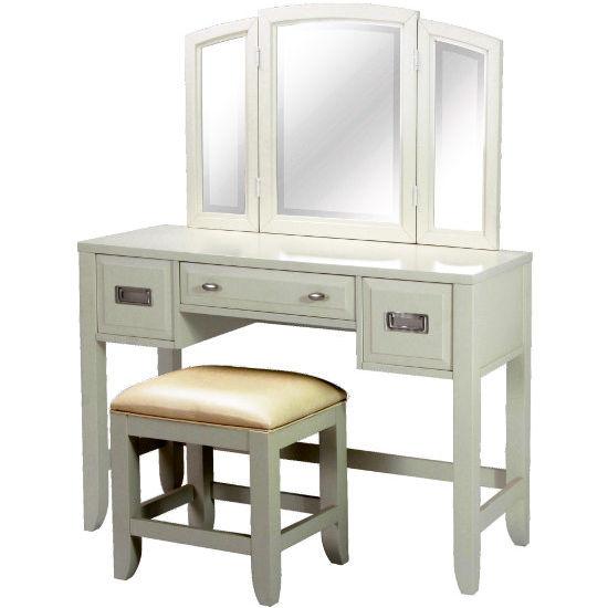 The prescott bedroom vanity with mirror by home styles for Prescott mirror