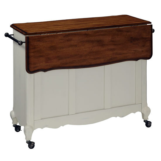 Kitchen Carts The French Countryside Oak and Rubbed White or Rubbed Black Ki