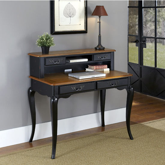 home office the french countryside 42 39 39 w oak and rubbed black or white student desk available. Black Bedroom Furniture Sets. Home Design Ideas