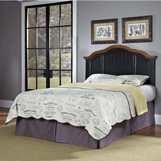 Oak Bed Bedroom Black And White Wall Bedroom Ideas Navy Blue Bedroom Inspiration Bedroom With Cathedral Ceiling: Bedroom Furniture, The French Countryside Oak And Rubbed White Or Black Full/Queen Or Queen Bed