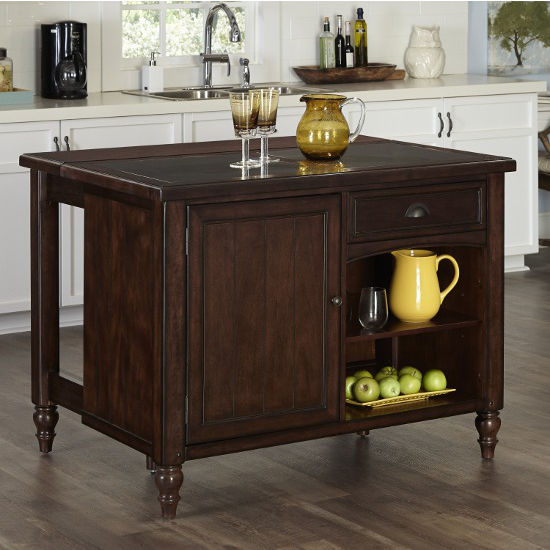 Home Styles Kitchen Island: Home Styles Country Comfort Kitchen Island With Column