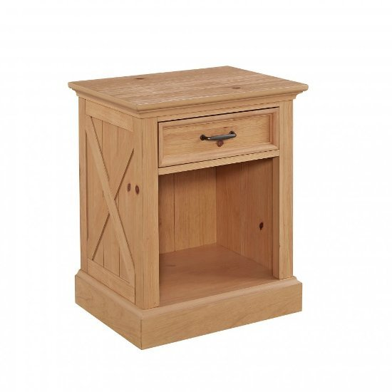 """Home Styles Country Lodge Night Stand in Pine, 22"""" W x 17"""" D x 26"""" H"""