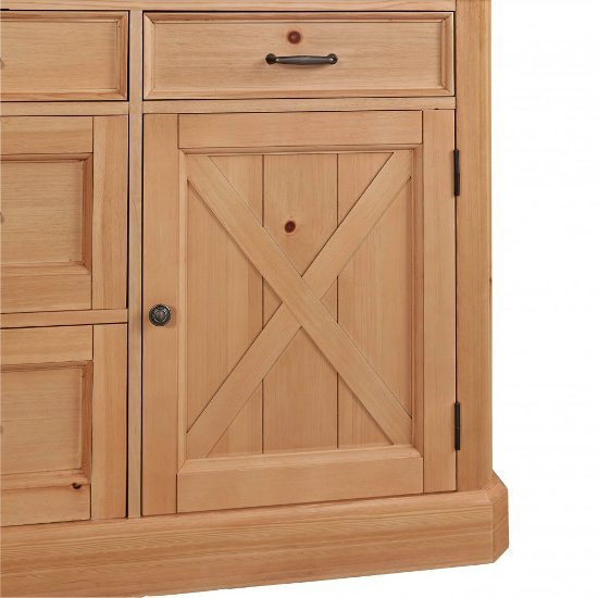 Pine Kitchen Island: 47'' Wide Country Lodge Kitchen Island In Natural Honey