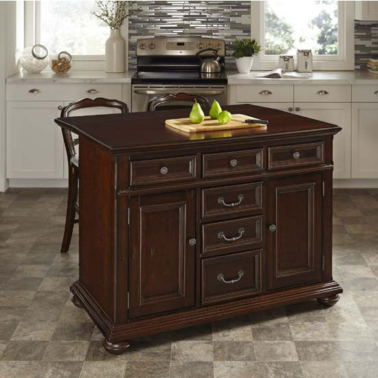 Kitchen Classical Colonial Kitchen Design With Island For: Colonial Classic 48'' W Kitchen Island W/ Wood Top Or