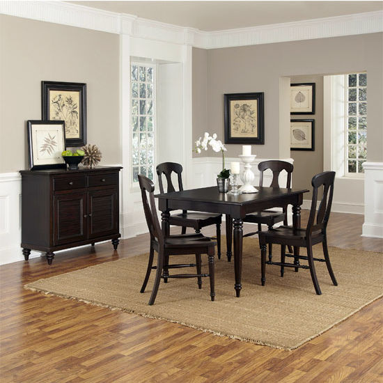 Home Styles Bermuda Espresso 5-Piece Dining Set