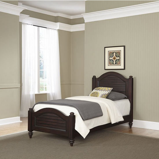 Bermuda complete old world tropical twin bed in espresso for Matching bed and dresser
