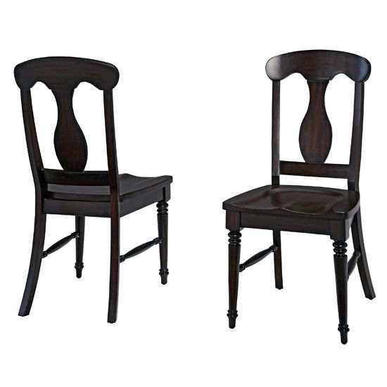 Home Styles Bermuda Espresso Dining Chair Pair, 18'' W x 21-3/4'' D x 39'' H
