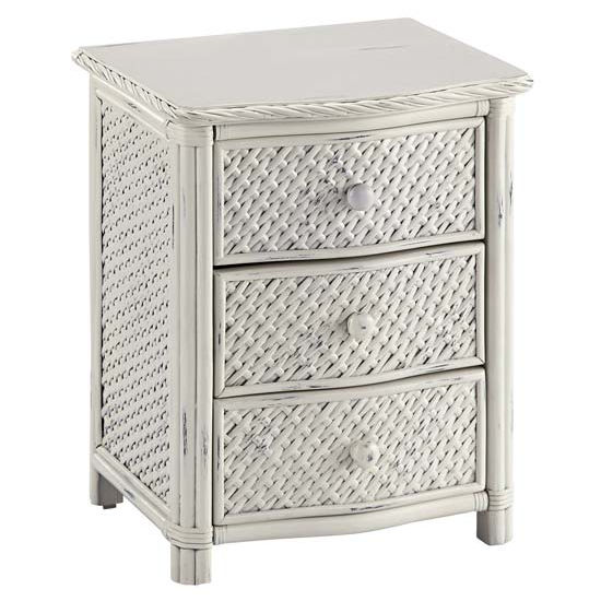 Home Styles HS-5548-42, Marco Island Night Stand, 21-1/4'' W x 17-3/4'' D x 24-3/4'' H, Weather-Worn Rubbed White