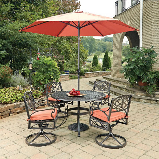 """Home Styles Biscayne 42"""" Or 48"""" Patio Dining Table Set"""