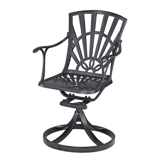 Home Styles Largo Collection 23-1/4'' Swivel Chair in Charcoal, 23-1/4'' W x 24'' D x 36'' H