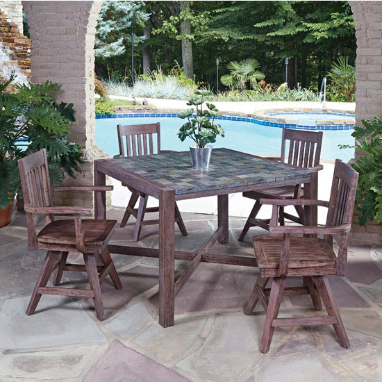 Table w/ Swivel Arm Chairs - In Use