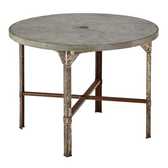 Home Styles HS-5670-30, Urban Outdoor Round Dining Table, 41'' W x 41'' D x 30'' H, Aged Metal Finish
