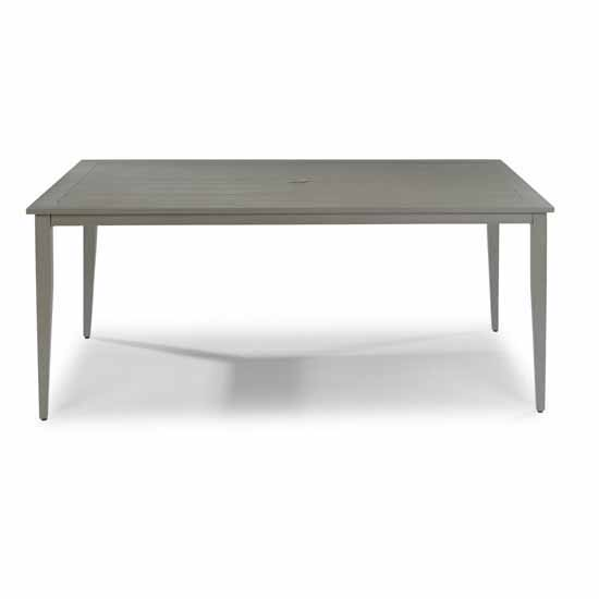 """Home Styles Daytona Rectangular Outdoor Dining Table in Grey Finish, 71""""W x 40""""D x 28-3/4""""H"""