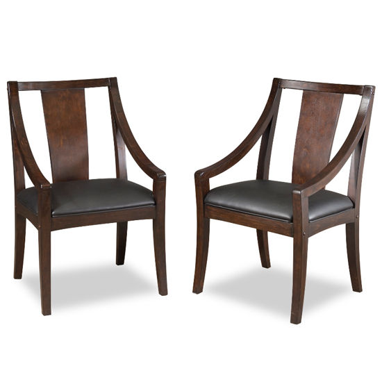 Home Styles Rio Vista Espresso Game Chair, Pair