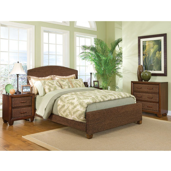 Home Furnishings Cabana Banana Complete Queen Bed Constructed Out Of Woven Banana Leaf By