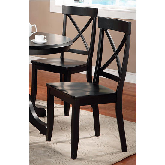 home furnishings round pedestal dining table chairs black finish
