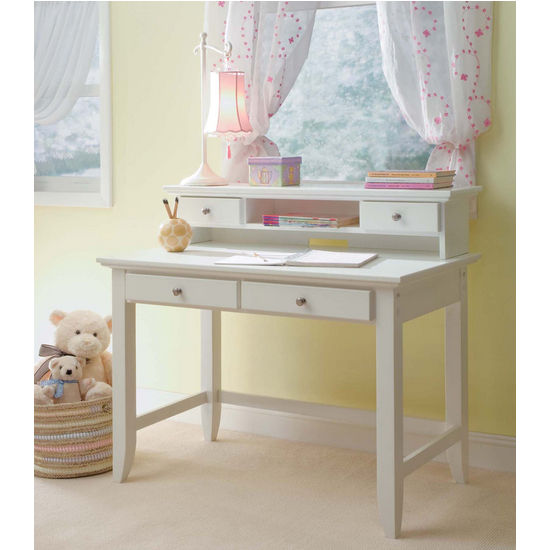 Naples White Student Desk or Desk & Hutch Combo by Home Styles