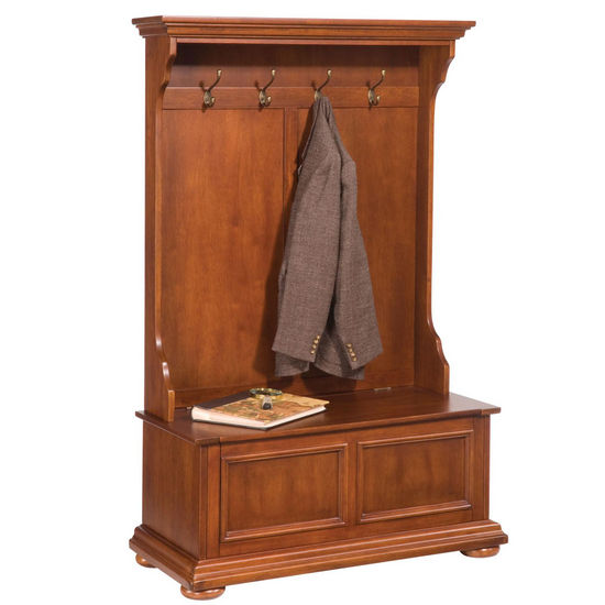 The�Homestead�Hall�Tree Warm Oak Finish