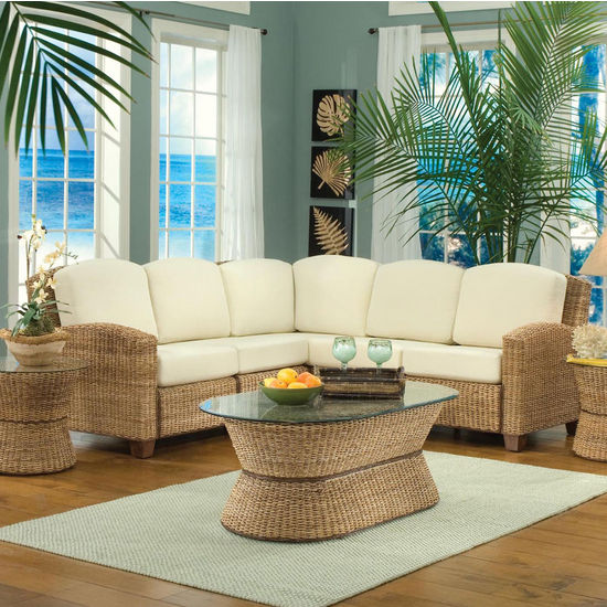 Home Styles Cabana Banana L-Shape Sectional Sofa
