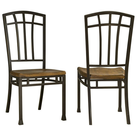 Home Styles Pair of Oak Hill Dining Chairs