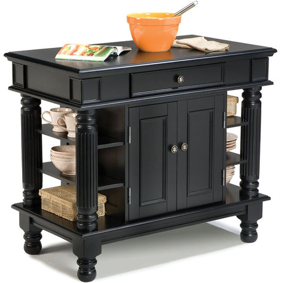 Ebony Kitchen Island by Home Styles