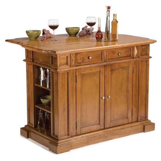Kitchen Islands with Drop Down Breakfast Bar by Home Styles