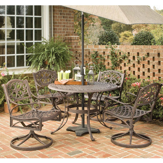 Home Styles - 5-Pc. Outdoor Dining Set w/Swivel Chairs