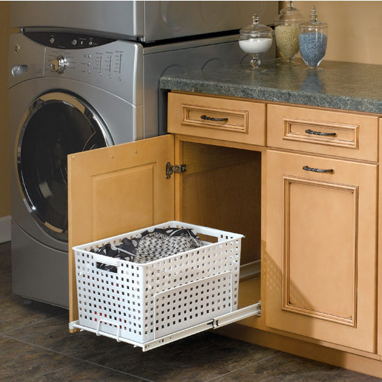 Kitchen Cabinet Baskets: Rev-A-Shelf Pull-Out Laundry Hamper And Utility Basket For
