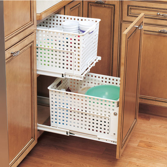 Rev A Shelf Pull Out Laundry Hamper And Utility Basket For Kitchen Or Vanity Kitchensource Com