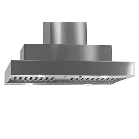 Imperial Island Slim Line Series IS2000 Range Hood with Dual Blowers, Baffle Filters & Two Ducts