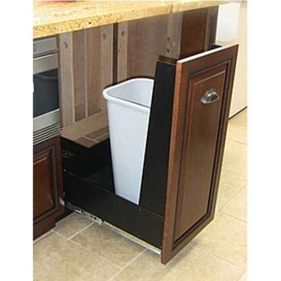 Black Kitchen Bin Sale: Trash Or Recycling Cabinet With Trash Cans By
