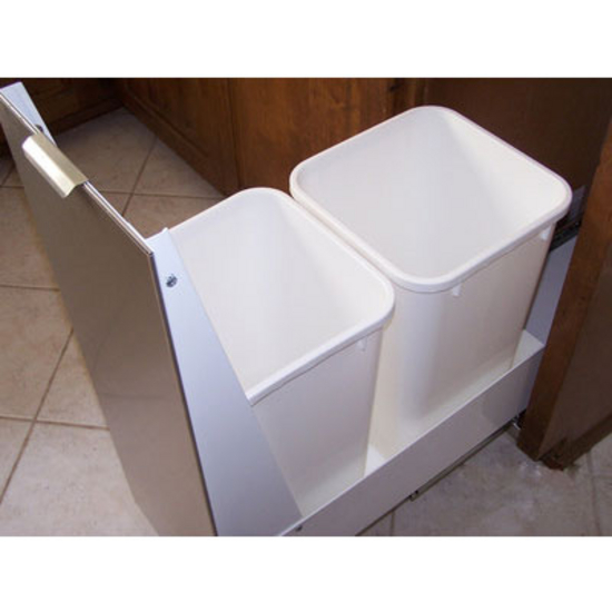 Lovely Trash Cans - Trash or Recycling Cabinet with Trash Cans by  TO37